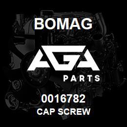 0016782 Bomag Cap screw | AGA Parts