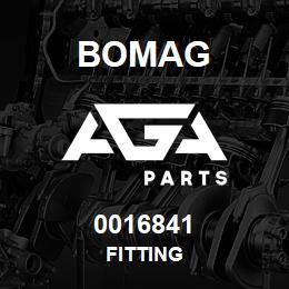 0016841 Bomag Fitting | AGA Parts