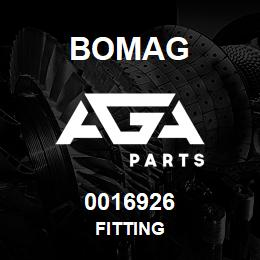 0016926 Bomag Fitting | AGA Parts