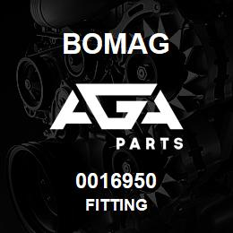 0016950 Bomag Fitting | AGA Parts