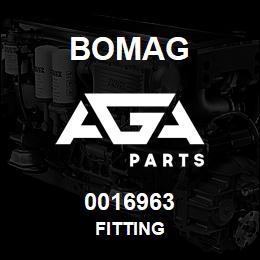 0016963 Bomag Fitting | AGA Parts