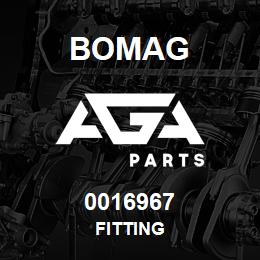 0016967 Bomag Fitting | AGA Parts