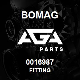 0016987 Bomag Fitting | AGA Parts