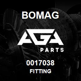 0017038 Bomag Fitting | AGA Parts