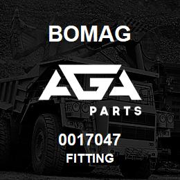 0017047 Bomag Fitting | AGA Parts