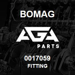 0017059 Bomag Fitting | AGA Parts