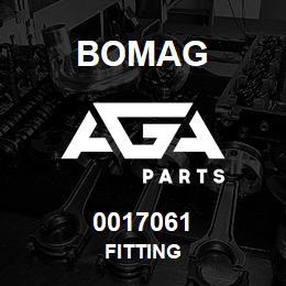 0017061 Bomag Fitting | AGA Parts