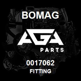 0017062 Bomag Fitting | AGA Parts