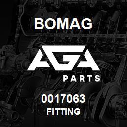 0017063 Bomag Fitting | AGA Parts