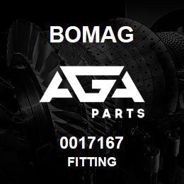 0017167 Bomag Fitting | AGA Parts