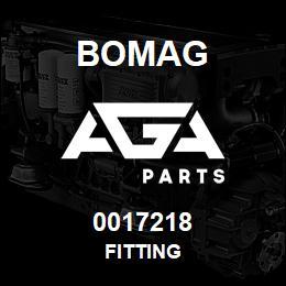 0017218 Bomag Fitting | AGA Parts