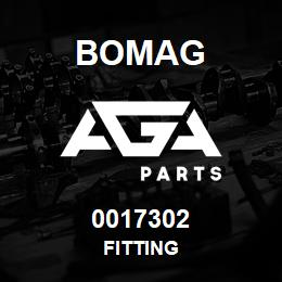 0017302 Bomag Fitting | AGA Parts