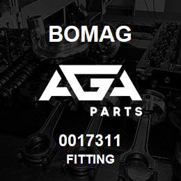 0017311 Bomag Fitting   AGA Parts