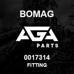0017314 Bomag Fitting | AGA Parts