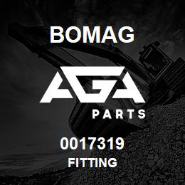 0017319 Bomag Fitting | AGA Parts
