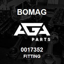 0017352 Bomag Fitting | AGA Parts