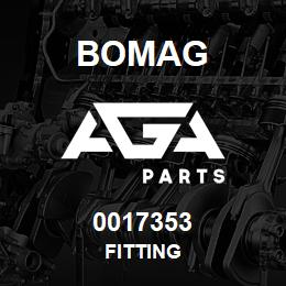 0017353 Bomag Fitting | AGA Parts