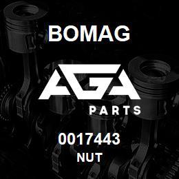 0017443 Bomag Nut | AGA Parts