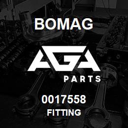 0017558 Bomag Fitting | AGA Parts