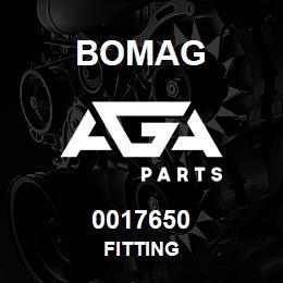 0017650 Bomag Fitting | AGA Parts