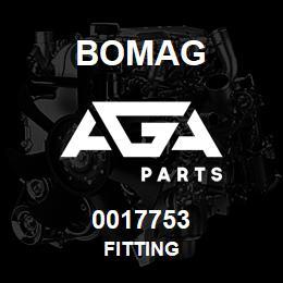 0017753 Bomag Fitting | AGA Parts