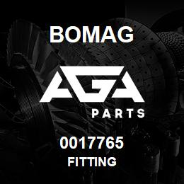 0017765 Bomag Fitting | AGA Parts