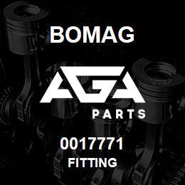 0017771 Bomag Fitting | AGA Parts