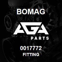 0017772 Bomag Fitting | AGA Parts