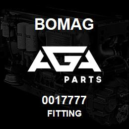 0017777 Bomag Fitting | AGA Parts