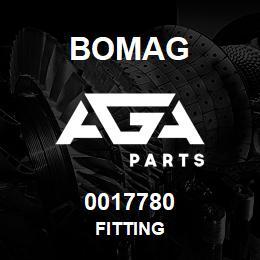 0017780 Bomag Fitting | AGA Parts