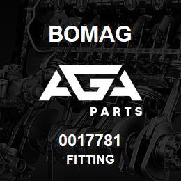 0017781 Bomag Fitting | AGA Parts
