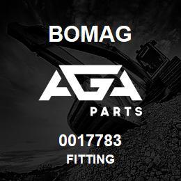 0017783 Bomag Fitting | AGA Parts