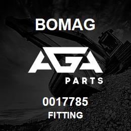 0017785 Bomag Fitting | AGA Parts