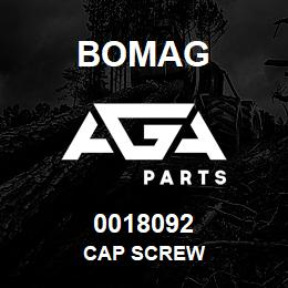 0018092 Bomag Cap screw | AGA Parts