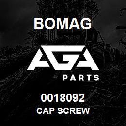 0018092 Bomag Cap screw | AGA Parts