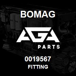 0019567 Bomag Fitting | AGA Parts