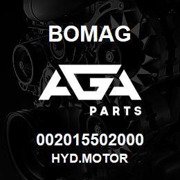 002015502000 Bomag HYD.MOTOR | AGA Parts