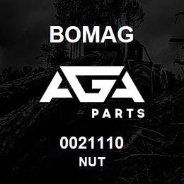 0021110 Bomag Nut | AGA Parts