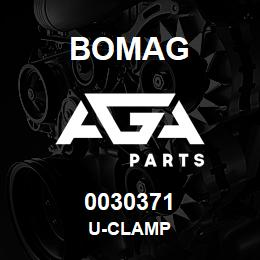 0030371 Bomag U-clamp | AGA Parts