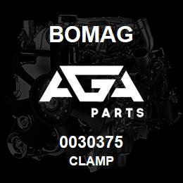 0030375 Bomag Clamp | AGA Parts