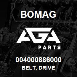 004000886000 Bomag BELT, DRIVE | AGA Parts