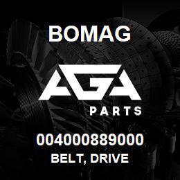 004000889000 Bomag BELT, DRIVE   AGA Parts