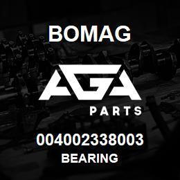 004002338003 Bomag BEARING | AGA Parts