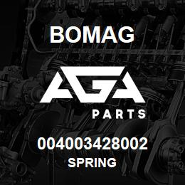 004003428002 Bomag SPRING | AGA Parts
