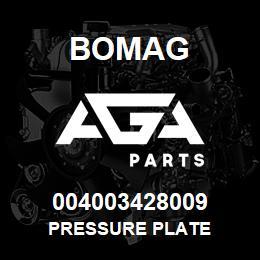 004003428009 Bomag PRESSURE PLATE | AGA Parts