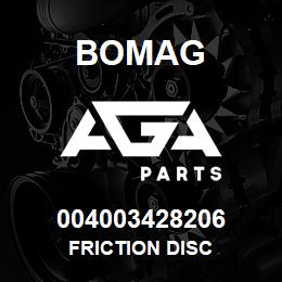 004003428206 Bomag FRICTION DISC | AGA Parts