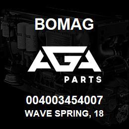 004003454007 Bomag WAVE SPRING, 18 | AGA Parts