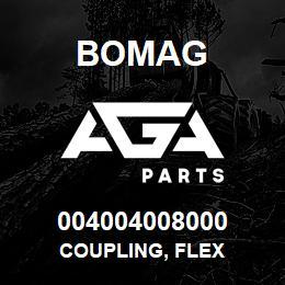 004004008000 Bomag COUPLING, FLEX | AGA Parts