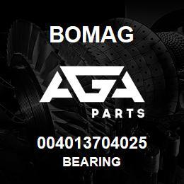 004013704025 Bomag BEARING | AGA Parts
