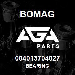 004013704027 Bomag BEARING | AGA Parts